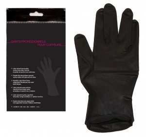 Gants de coloration latex noir par paire JACQUES SEBAN large