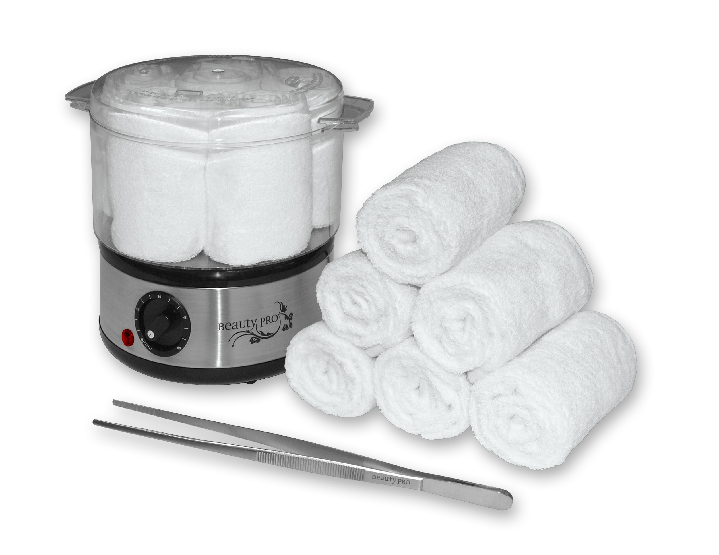 kit chauffe serviettes professionnel pince et 6 serviettes beauty pro. Black Bedroom Furniture Sets. Home Design Ideas