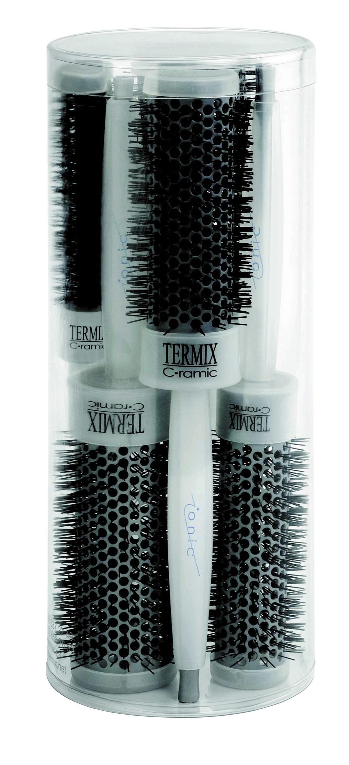 brosse cheveux professionnelle ionic ceramic termix par lot de 5. Black Bedroom Furniture Sets. Home Design Ideas