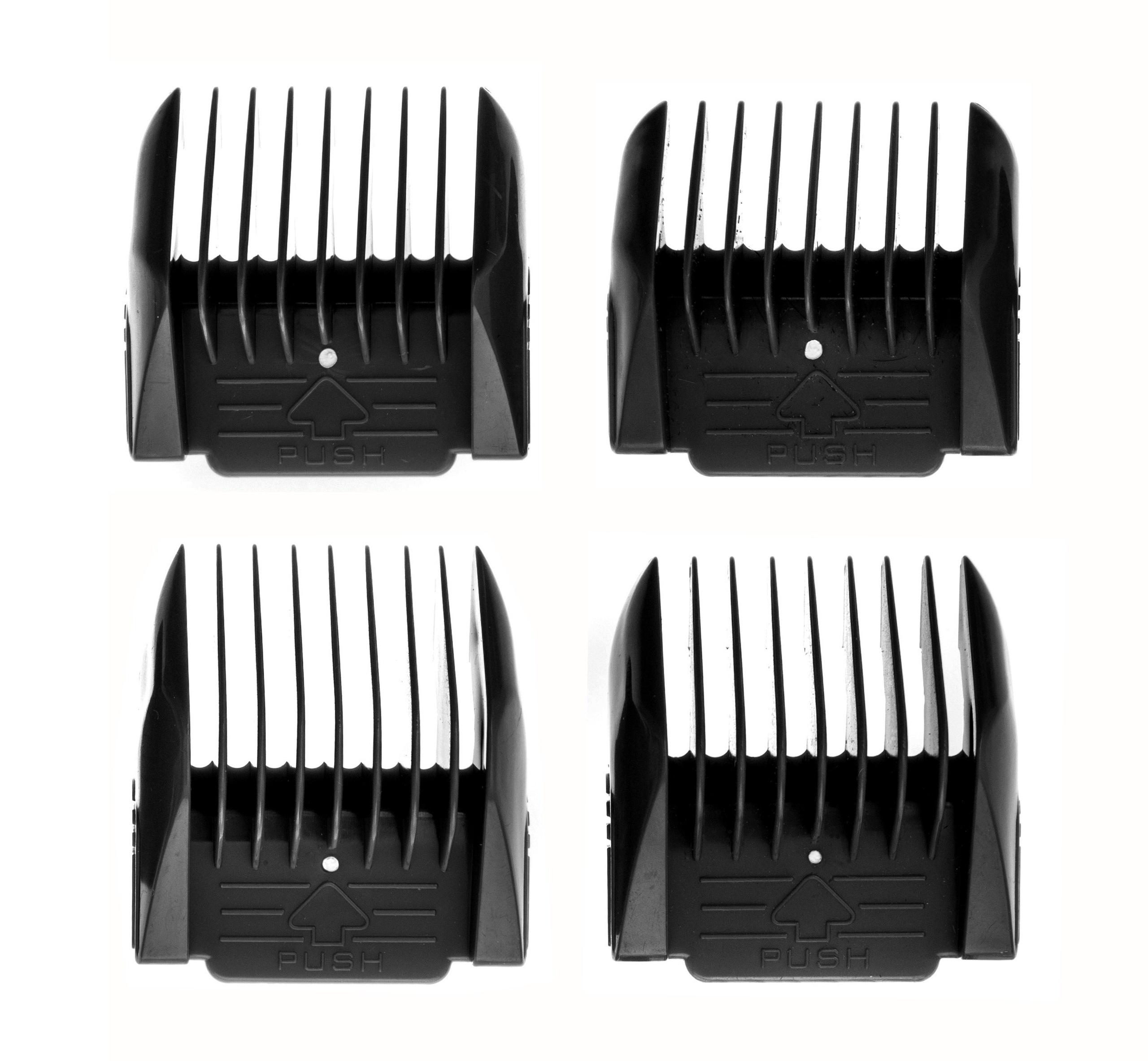 jeu de peignes 3 6 9 12 mm pour tondeuse cheveux. Black Bedroom Furniture Sets. Home Design Ideas